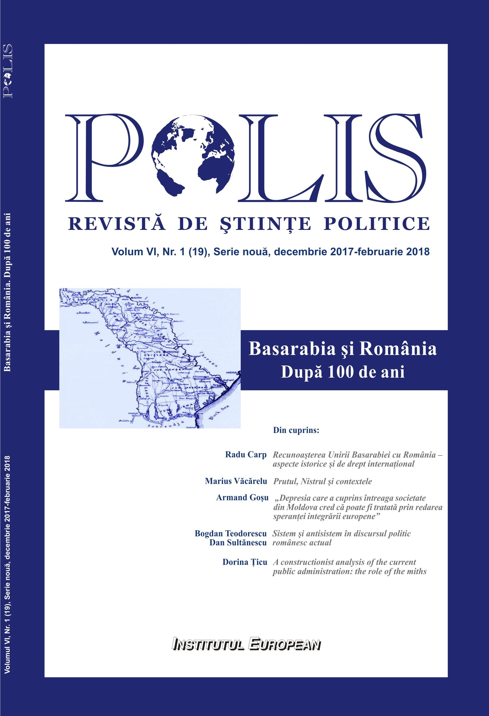 a constructionist analysis of the current public administration the